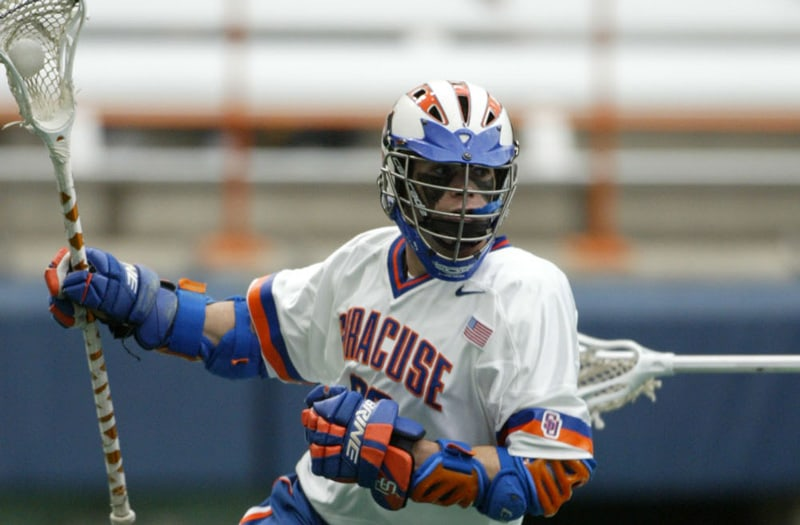 Mike Powell is tied for 1st for the most assists in a boys' high school lacrosse season. Photo courtesy: Syracuse Athletics