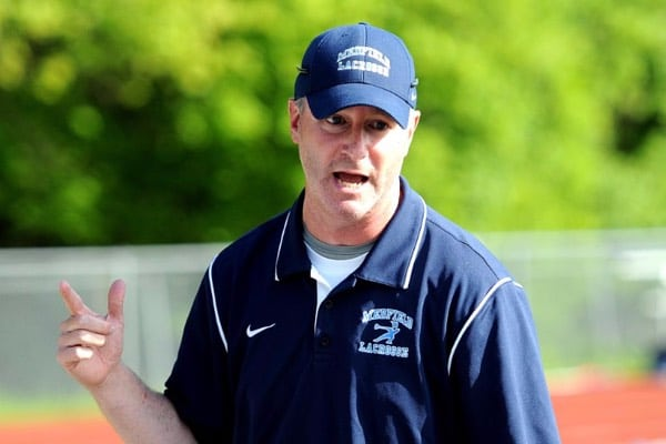 Medfield high school lacrosse head coach John Isaf.