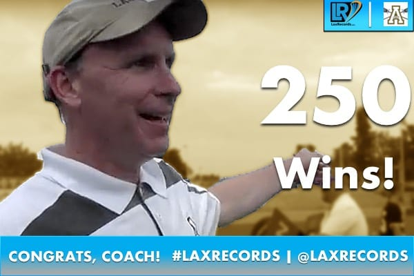 Apex Head Coach John Hayden won his 250th career game on March 10, 2017.