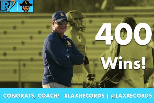 Terry Crowley won his 400th career game on Tuesday, March 7, 2017.