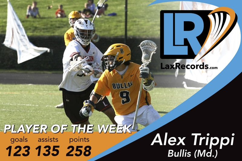 Alex Trippi is the LaxRecords.com Player of the Week for March 3, 2017.