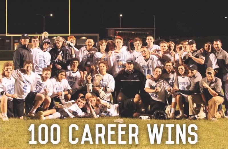 Westminster head coach Steve DeFeo won his 100th career game on May 2, 2017.