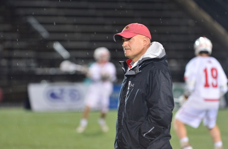 Calvert Hall (Md.) Head Coach Bryan Kelly. Photo by: Mike Loveday