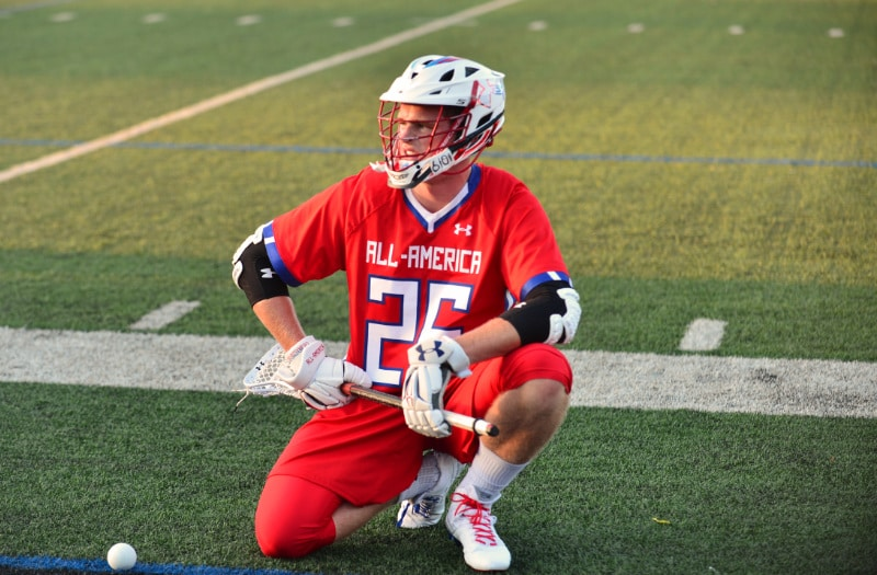 Justin Shockey is LaxRecords.com's 2017 Player of the Year. Photo by: Mike Loveday