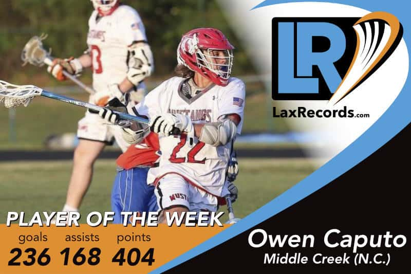 Owen Caputo is LaxRecords.com's Player of the Week for March 26, 2018.