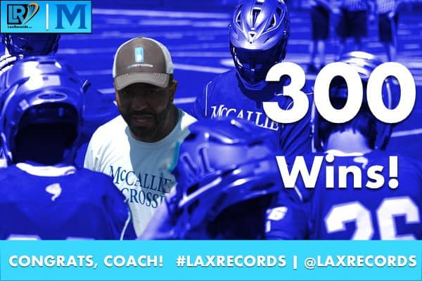 Troy Kemp won the 300th game of his career as head coach of McCallie School (Tenn.).