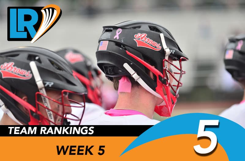 Week 5 Consensus Rankings by LaxRecords.com