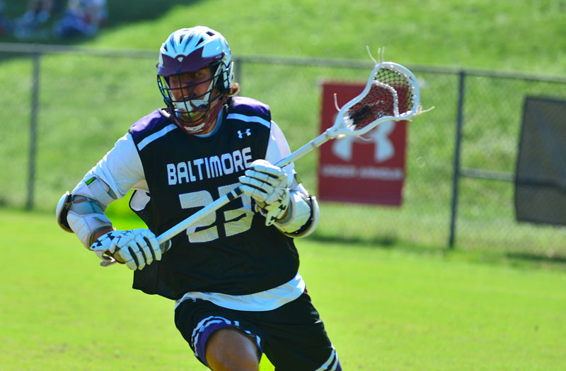 Brendan Grimes from Boys' Latin (Md.) at the 2018 Under Armour Underclassmen games. Photo by Mike Loveday