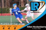 Allen Hockenberry from St. Mary's (Md.) scored eight points in two wins last week.