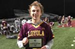 Kaden Keller from Loyola Academy (Ill.) earned LaxRecords Player of the Game against St. Viator (Ill.). Photo by Michael Ward