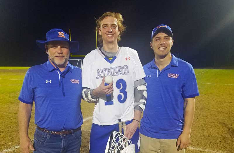 Reid Koonce from Athens Drive (N.C.) reached a milestone with the 200th point of his career.