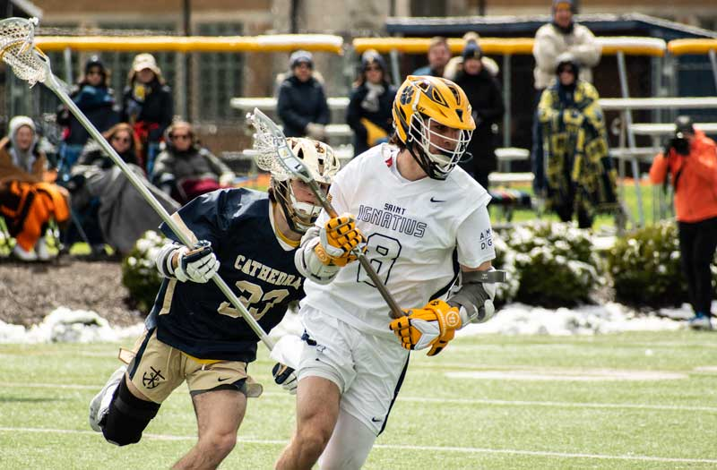 St. Ignatius (Ohio) impressed in games against MICDS (Mo.) and Cathedral (Ind.). Photo by Mike Loveday