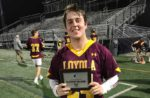 Dom Urukalo from Loyola Academy earned LaxRecords Player of the Game for his play against New Trier. Photo by Michael Ward