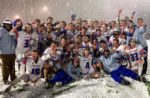 Cherry Creek wrapped up its Colorado state championship in a snow storm. Photo from Cherry Creek Lacrosse Twitter