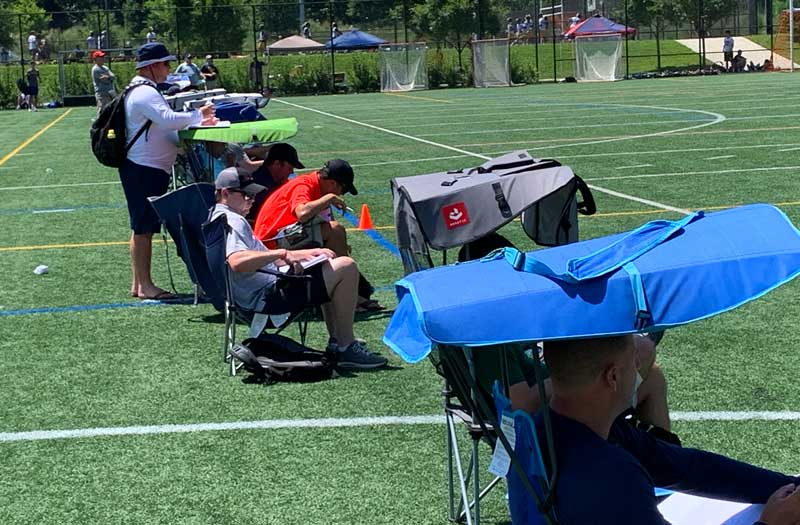 More than 100 college coaches attended the National High School Lacrosse Showcase. Photo by Derek Toney