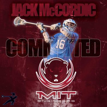 Jack McCordic from Medfield (Mass.) committed to MIT in March 2019.