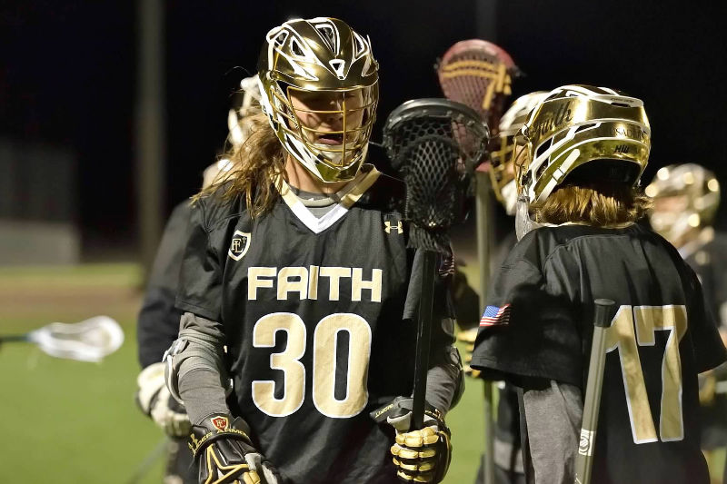 Sean Nolan from Faith Lutheran finished his high school lacrosse career with 82 career ground balls.