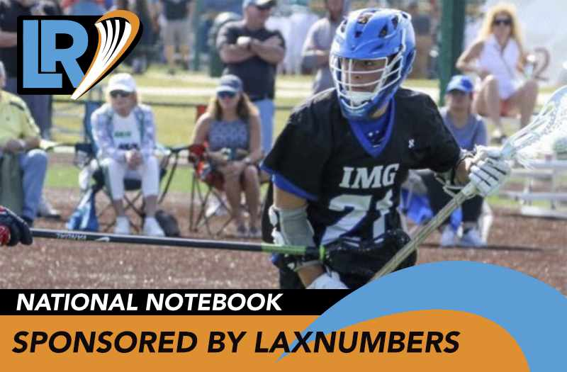 LaxRecords.com National Notebook Week 1