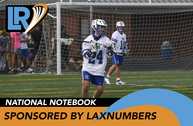 A photo of a Riverside (Virginia) player taken by Joanie Booker. National Notebook sponsored by Laxnumbers.